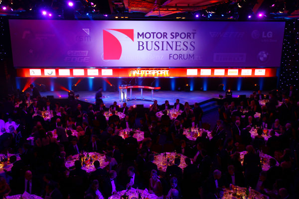 Grosvenor House Hotel, Park Lane, London 5th December 2010 Sponsors of the 2010 Autosport Awards are projected onto the main stage.World Copyright: Malcolm Griffiths/LAT Photographic ref: Digtal Image IMG_3640