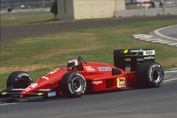 Mexico City, Mexico. 27th - 29th May 1988.Gerhard Berger (Ferrari F187/88C), 3rd position, action. World Copyright: LAT Photographic.Ref:  88MEX