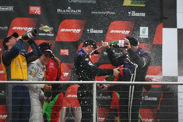 2015 British GT Championship, Donington Park, England. 12th-13th September 2015. GT3 Podium World Copyright: Ebrey / LAT Photographic.