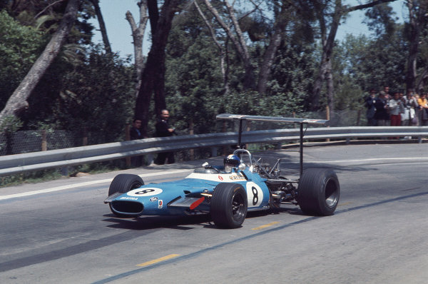 1969 Spanish Grand Prix.Monjuich Park, Barcelona, Spain.2-4 May 1969.Jean Pierre-Beltoise (Matra MS80 Ford) 3rd position.Ref-69 ESP 14.World Copyright - LAT Photographic