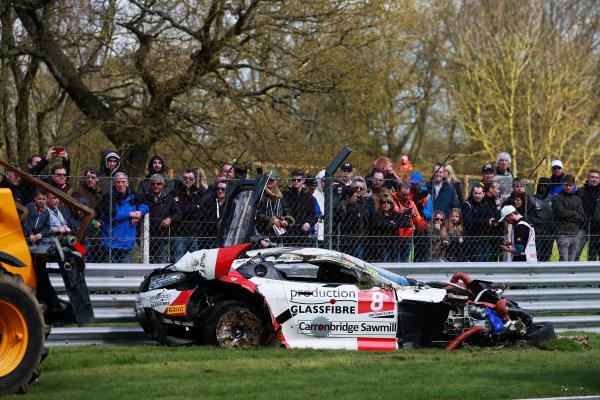 2016 British GT Championship, Brands Hatch, Kent. 16th - 17th April 2016. Phil Dryburgh / Ross Wylie Motorbase Aston Martin GT3. World Copyright: Ebrey / LAT Photographic.