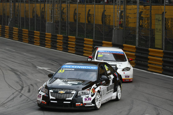 2013 World Touring Car Championship. Round 12 - Circuit de Guia, Macau, China. Sunday 17 November 2013. Race1, Yukinori Taniguchi (JAP) Chevrolet Cruze 1.6 T, Nika Racing. World Copyright: XPB Images / LAT Photographic. ref: Digital Image PHOTO4_560589