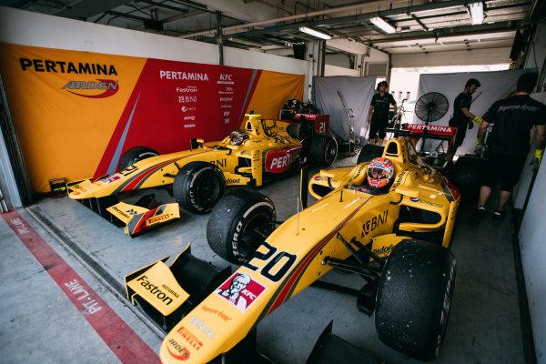 Bahrain International Circuit, Sakhir, Bahrain. Thursday 30 March 2017 Norman Nato (FRA) Pertamina Arden  Photo: Malcolm Griffiths/FIA Formpula 2 ref: Digital Image MALC8671