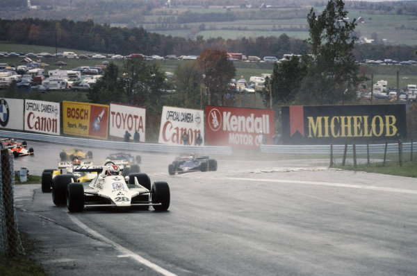 Clay Regazzoni, Williams FW07 Ford leads Jean-Pierre Jabouille, Renault RS10.