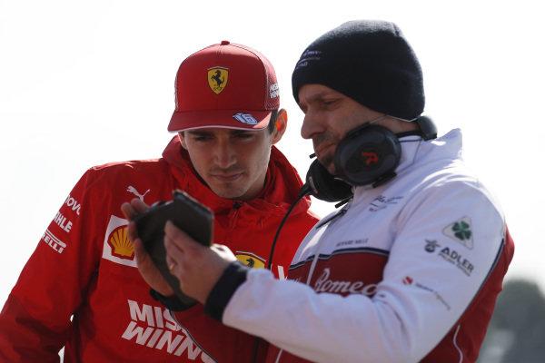 Charles Leclerc, Ferrari and Simone Resta, Alfa Romeo Racing designer
