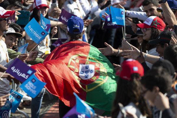 Antonio Felix da Costa (PRT), DS Techeetah, DS E-Tense FE20 runs through the crowd after his race win