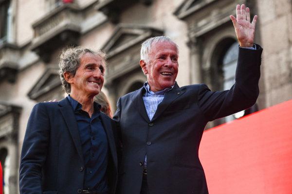 Alain Prost and Cesare Fiorio