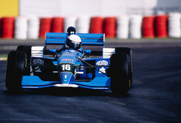 1995 Brazilian Grand Prix.Interlagos, Sao Paulo, Brazil. 24-26 March 1995.Bertrand Gachot (Pacific PR02 Ford).Ref-95 BRA 39.World Copyright - LAT Photographic