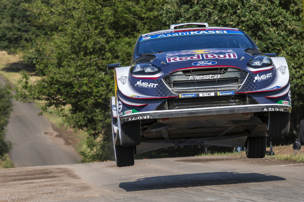 Sebastien Ogier on the famous 'Gina' jump on Rallye Deutschland's Panzerplatte military stages
