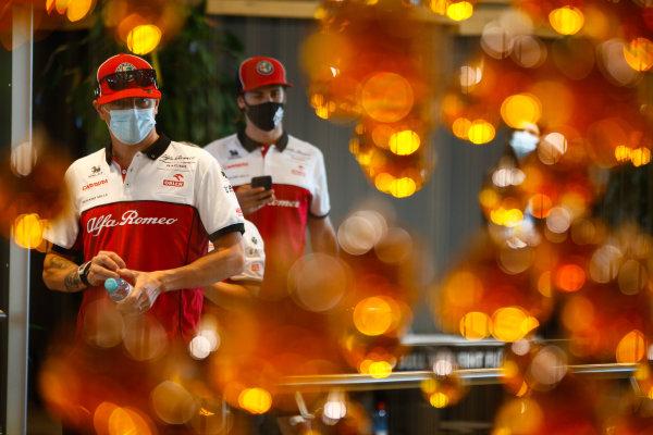 Kimi Raikkonen, Alfa Romeo, and Antonio Giovinazzi, Alfa Romeo