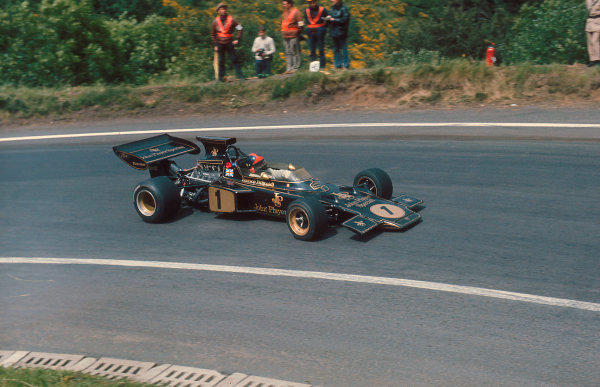 1972 French Grand Prix.Clermont-Ferrand, France.30/62/7 1972.Emerson Fittipaldi (Lotus 72D Ford) 2nd position.Ref-72 FRA 11.World Copyright - LAT Photographic