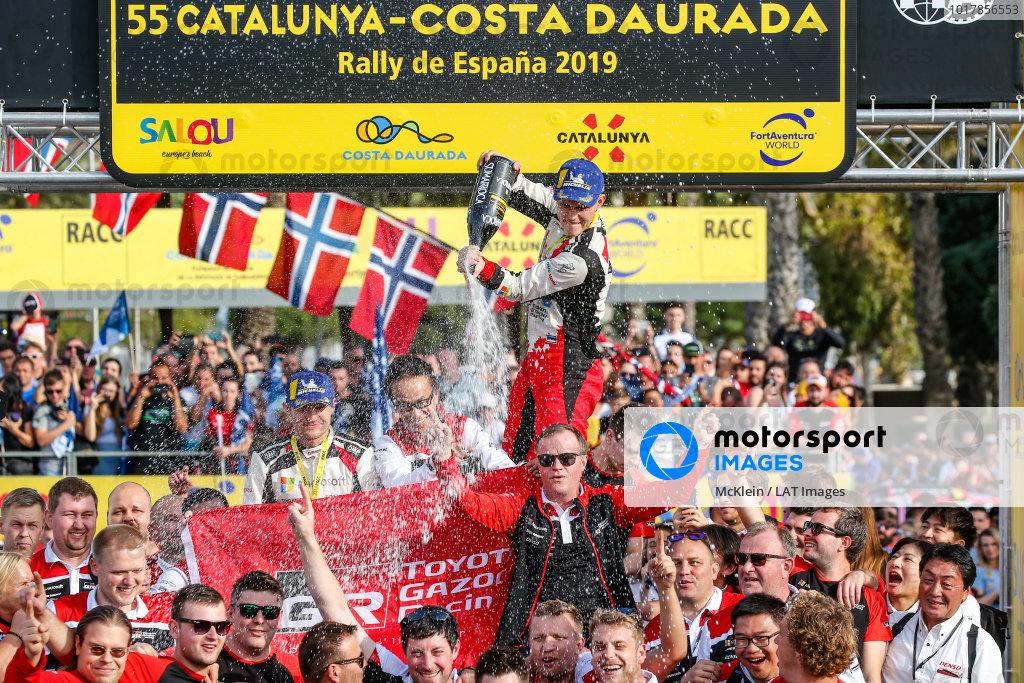 Ott Tänak (EST), Martin Jarveoja, Tommi Makinen (FIN), Toyota Gazoo Racing WRT, Toyota Yaris WRC 2019
