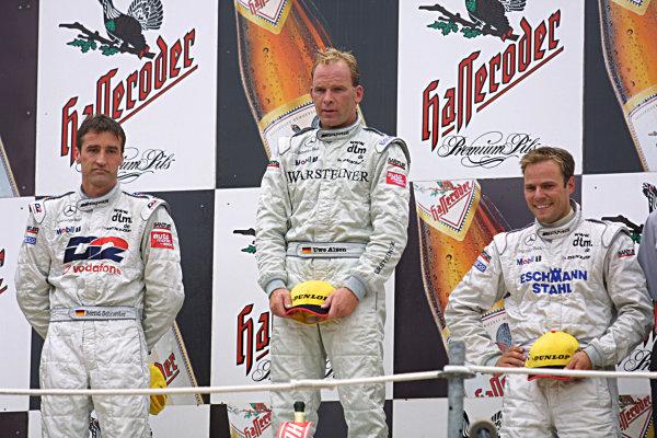 2001 German Touring Cars.Norisring, Germany, 7-8th July 2001.1st Uwe Alzen, 2nd Bernd Schnieider, 3rd Marcel Tiemann.World Copyright Spinney/Lat Photographic.Ref.:8 5mb Digital.