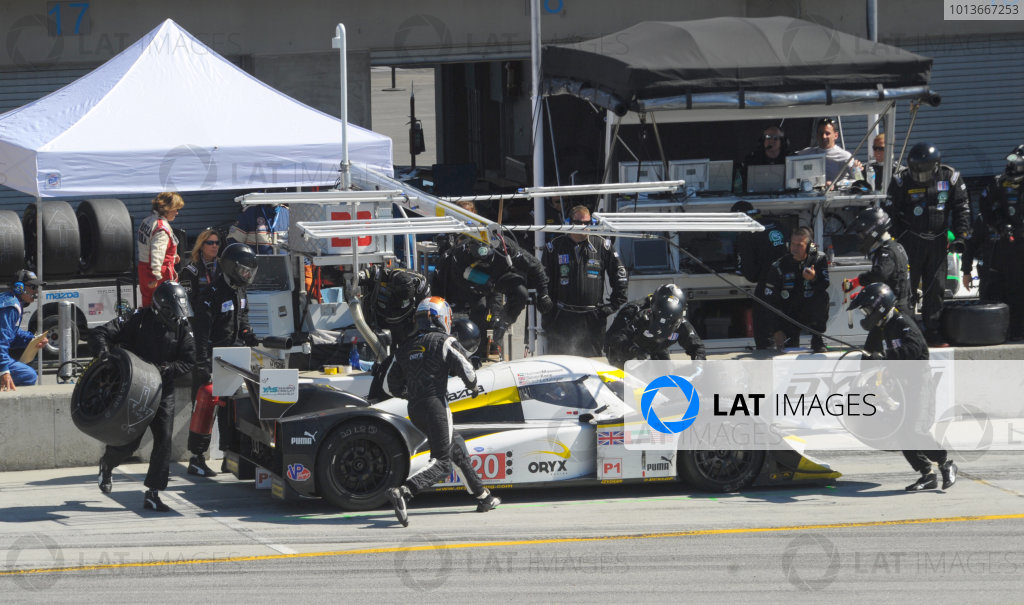 16-18 September, 2011, Monterey, California USA#20 Oryx Dyson Racing Lola B09/86 pitstop.(c)2011,  Dan R. Boyd  LAT Photo USA