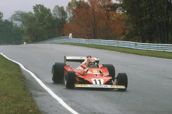 Watkins Glen, New York, USA. 30/9-2/10 1977. Niki Lauda, Ferrari 312T2, 4th position. Ref: 77USA02. World Copyright - LAT Photographic