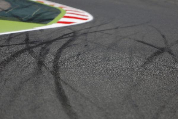 Track detail. Formula One World Championship, Rd5, Spanish Grand Prix, Preparations, Barcelona, Spain, Thursday 8 May 2014.